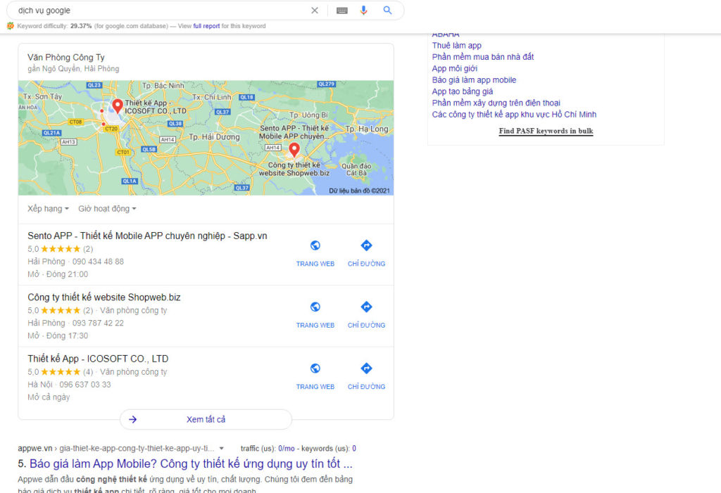 dịch vụ google business