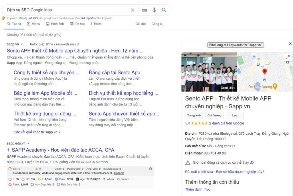 Dịch vụ SEO Google map uy tín #1 Việt Nam
