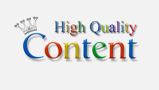 Content chất lượng và duy nhất