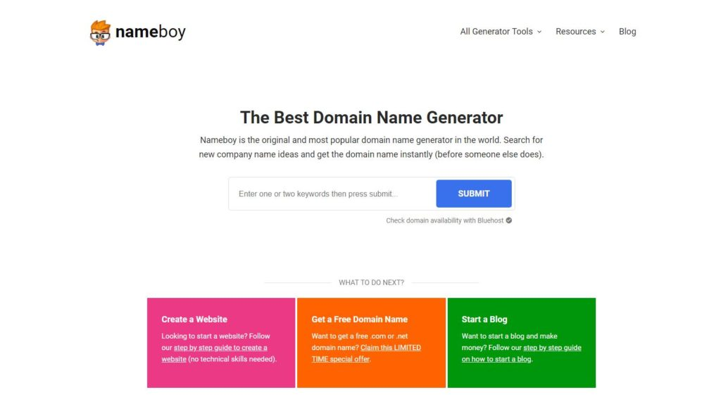 Trình tạo tên miền NameBoy